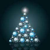 árvore de natal. ilustração vetorial. — Vetorial Stock