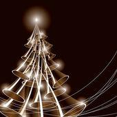 Weihnachtsbaum. vektor-illustration. — Stockvektor