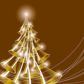 Christmas Tree. Vector Illustration. — Stock Vector