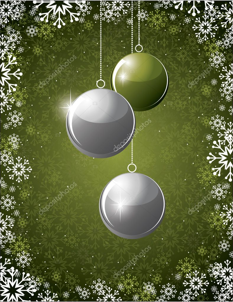 Christmas Background. Vector Illustration. — Vettoriali Stock  #11994269