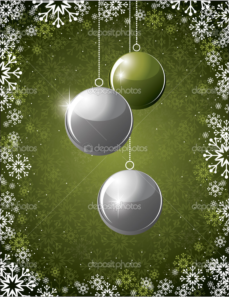 Christmas Background. Vector Illustration. — ベクター素材ストック #11994269