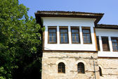 Traditional house with view at Kastoria, Greece — Stock Photo