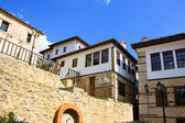 Traditional house with view at Kastoria, Greece — Stok fotoğraf