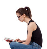 Portrait of teen girl with a book — Stock Photo