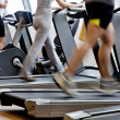 Stock Photo: Gym shot - running machines