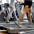 Gym shot - running machines — Stockfoto