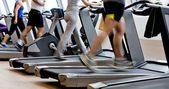 Gym shot - running machines — Foto Stock