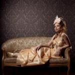 豪華なビンテージ スタイルの女性 — ストック写真
