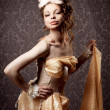 Girl in a luxurious vintage-style — ストック写真