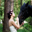 Stock Photo: Womand horse
