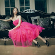 Beautiful fashionable luxury woman — ストック写真