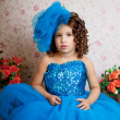 Ñute little girl, a child in a dress — Stock Photo