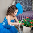 Cute little girl, a child in a dress — Stock Photo