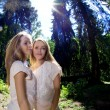 Stock Photo: Twins in the forest