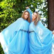 Two woman, twins in the forest — Stock Photo #11292437