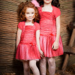 Two little girls, cute kids — Stock Photo