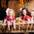 Three little girls, cute kids — Stockfoto #11292493