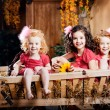 Three little girls, cute kids — Stock Photo #11292493