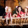 Stock Photo: Three little girls, cute kids