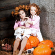 Two little girls, cute kids — Stockfoto