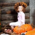 Beautiful child on the farm — Stock Photo