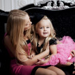 Ñute little girl, child with mother — Stockfoto #11292804