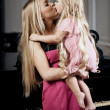 Stock Photo: Cute little girl, a child with mother