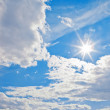 Blue sky and white clouds — Foto Stock