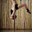 Sexy pole dance woman. — Stock Photo #11293917