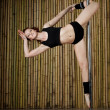 Sexy pole dance woman. — Stock fotografie