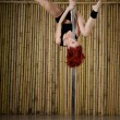 Sexy pole dance woman — Stock Photo