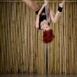 Sexy pole dance woman — Stock Photo