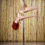 Sexy pole dance woman. — Stock Photo