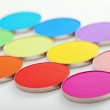 Colorful bright eye shadow — Stock Photo