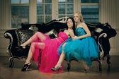 Mulher de moda de luxo dois — Foto Stock