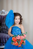 Ñute little girl, a child in a dress — Stockfoto