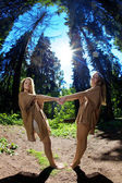 Twins in the forest — Stock Photo