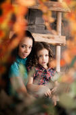 Ñute little girl, a child with mother — Stock Photo
