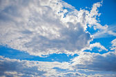 Blue sky and white clouds — Stock Photo