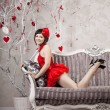 Woman in red — Stock Photo #11942400