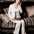 Business Woman with a tablet PC — Foto de Stock