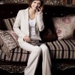 Business Woman with a tablet PC — Stok fotoğraf