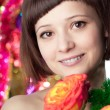 Woman with flowers — Stock Photo #11943177