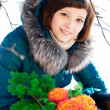 frau winter — Stockfoto