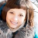 Winter woman — Stock Photo