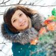 Winter woman — Foto Stock