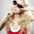 Beauty luxury woman in sunglasses — Foto Stock