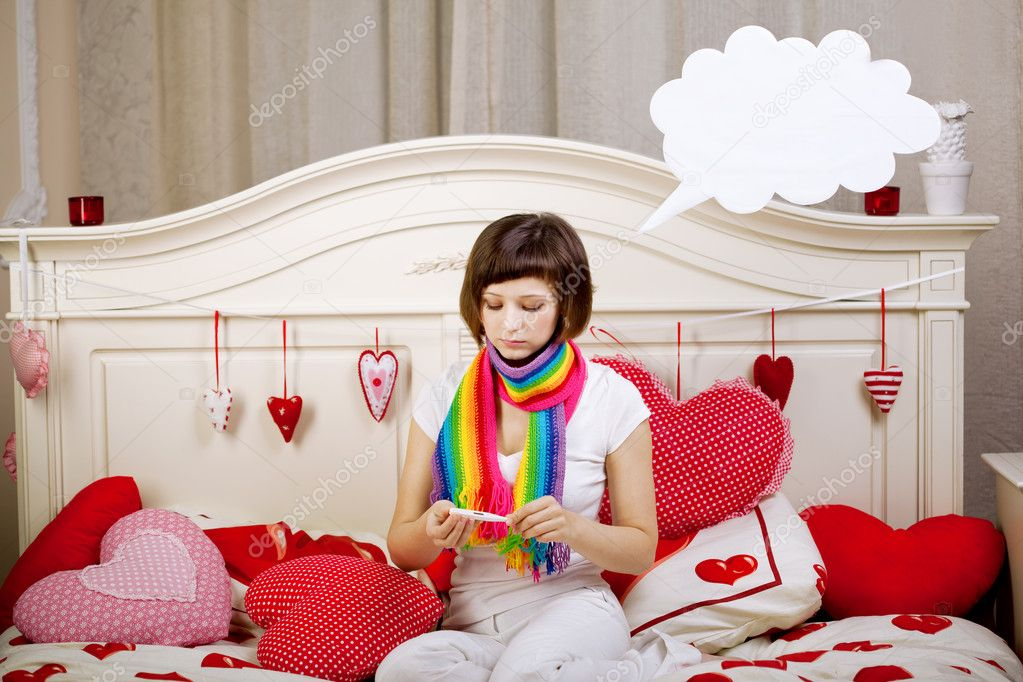 Beautiful woman is sick — Stock Photo #11942311