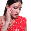 Stock Photo: Young womin indired sari