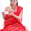 Young womin indired sari — Stock Photo #10967920